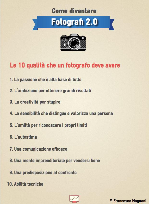 10 qualità fotografo