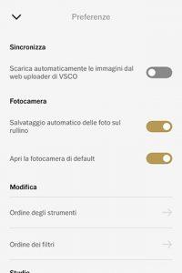 Scattare ed editare con VSCO Cam